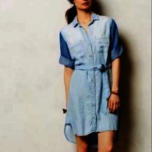 Anthropologie Cloth & Stone Chambray Dress Small